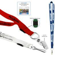 Keep your company logo in sight with a printed lanyard.  Quick to print, fast to hand out and available in great lanyard colours.  Add a name card holder or business card holder for that extra touch.