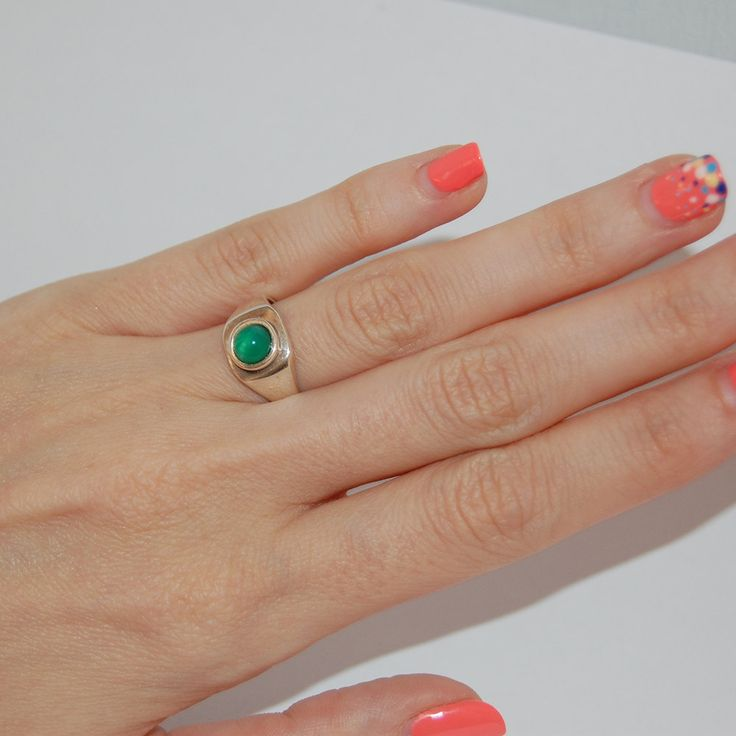 Boho ring, Aventurine silver ring, April birthstone, Taurus ring, Womens…