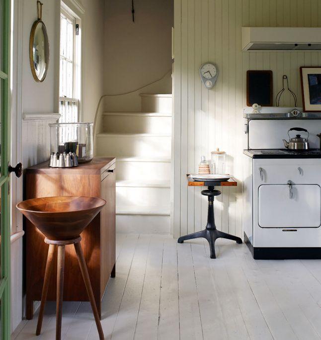 Love, Love, Love a staircase that comes down into the Kitchen. A 'servant's' staircase.