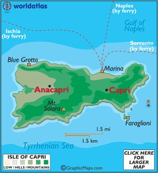 Isle of Capri. Stayed with friends at their house, Villa La Pietra in Anacapri 10/14.  Thank you for a wonderful week - Paradiso!