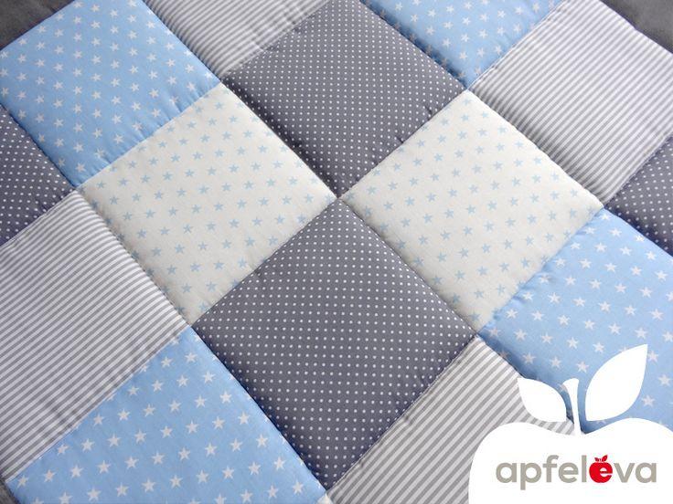 KLASSIKER freie Farbwahl elegante Krabbeldecke von apfeleva auf DaWanda.com
