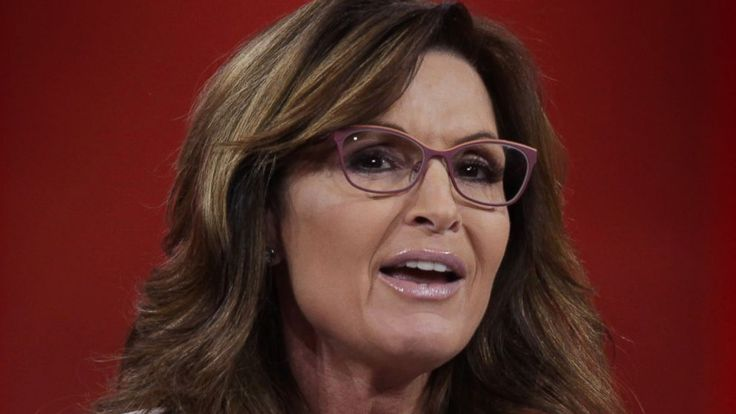 """Speaking at a rally today for Republican presidential candidate Donald Trump, former Alaska Gov. Sarah Palin suggested that her son Track, who was arrested this week for a domestic violence incident, suffers from post-traumatic stress disorder. """"I guess it's kind of an elephant in the room, because..."""