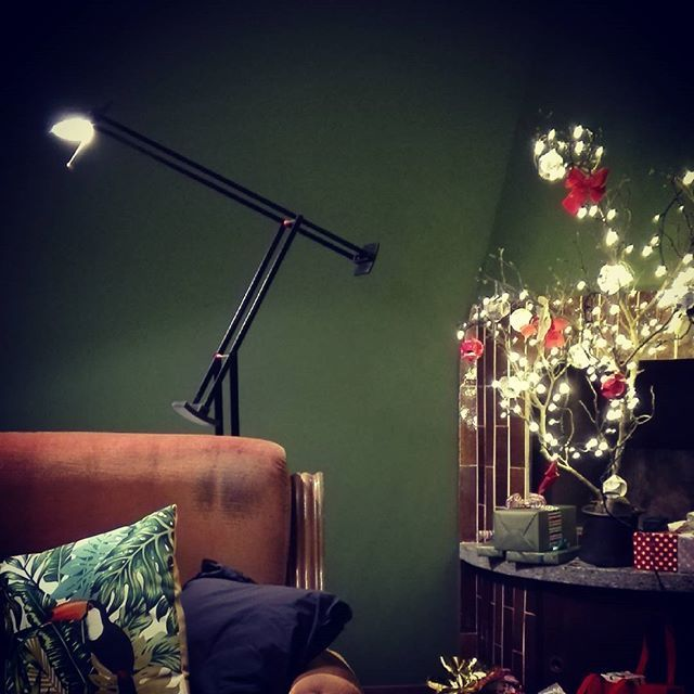 pied-à-terre #christmastree #homesweethome #casadolcecasa #casa #tizio #light #green #living