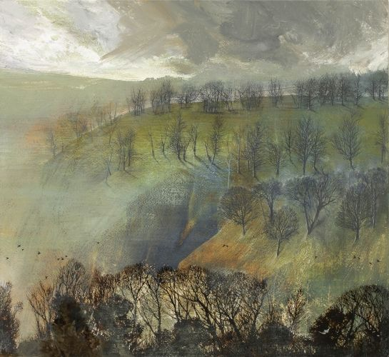 'Late Winter' by Mary Ann Aytoun-Ellis (egg tempera and pen and ink on panel)