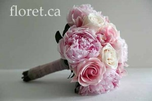 floret.ca Soft Pink Peony And Rose Bridal Bouquet
