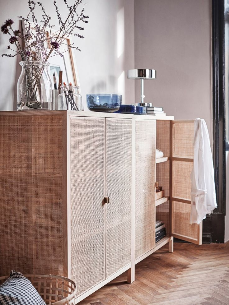 IKEA   STOCKHOLM Cabinet, Made From Rattan And Ash, Natural Materials That  Age With Grace.Steady On Uneven Floors, Thanks To The Adjustable Feet.