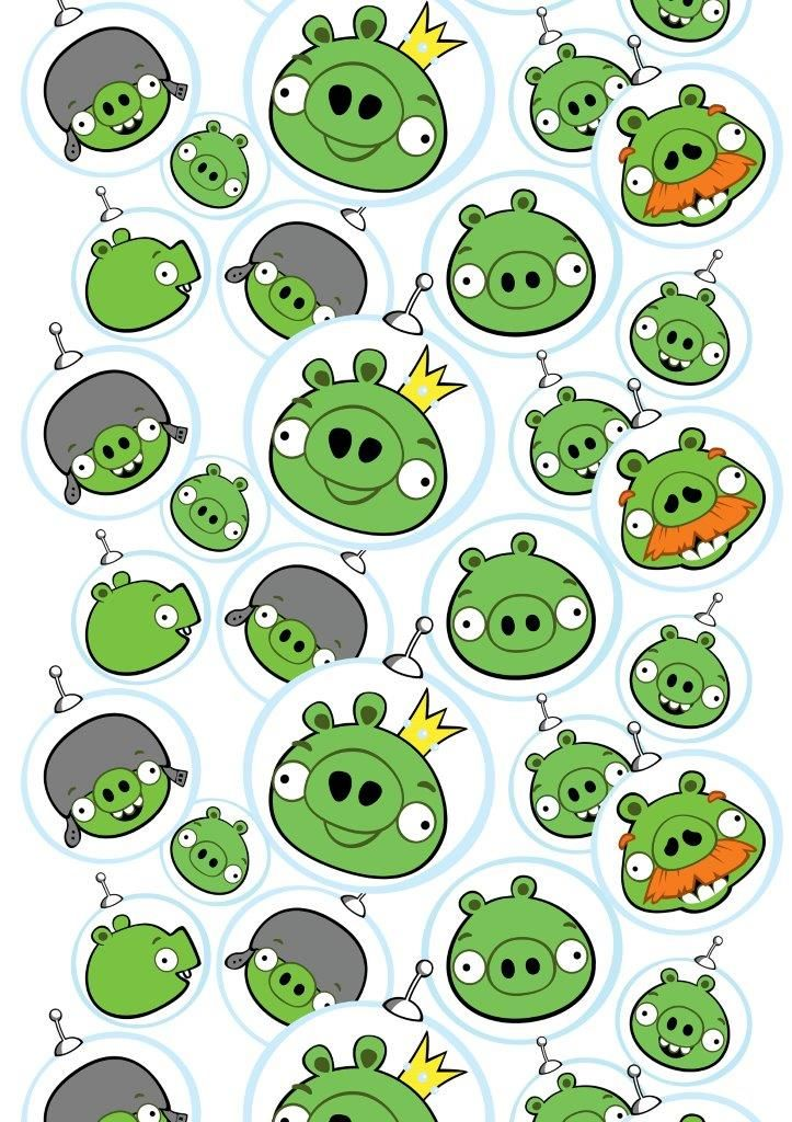 """""""Space piggies"""" fabric,150 cm - Angry Birds Interior Collection by Vallila"""