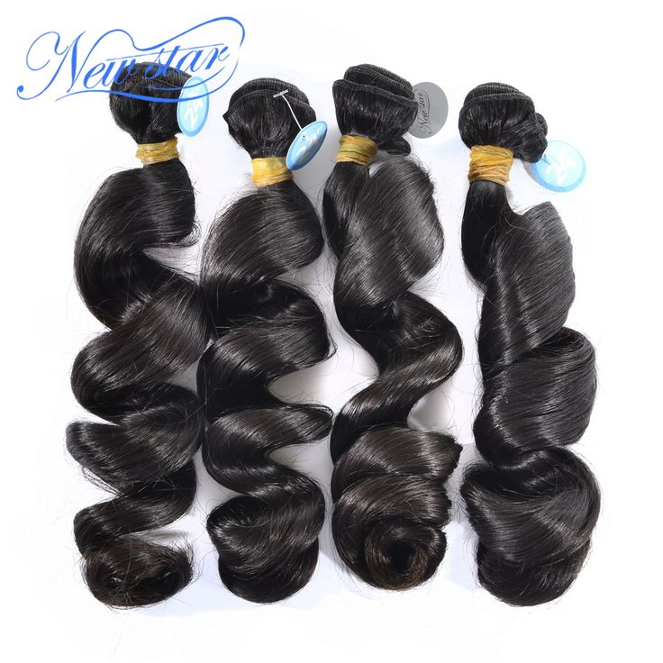Hot sale NEW STAR HAIR Brazilian virgin hair Brazilian loose curl loose wave hair extension weaving 4 pieces/lot loose curly