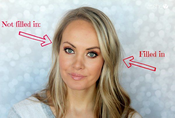 How to fill in your eyebrows naturally www.howdoesshe.com