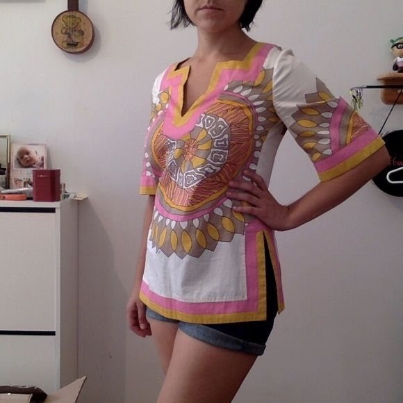 Trina Turk Los Angeles top Super summery and mod! Great condition. Trina Turk Tops