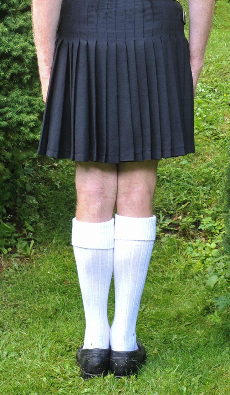 Black kilt, white socks
