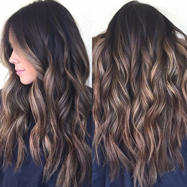 Oh em gee! Brunette perfection.  So much prettiness via @habitsalon…