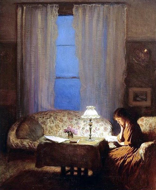George Clausen, Twilight interior, 1909: