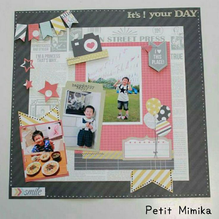 miyuchiさんのスケッチ『IT'S YOUR Birthday』 の画像|西宮・神戸【写真を可愛くデコって保存・整理】アルバム作りのお手伝い&スクラップブッキング☆Petit Mimika☆