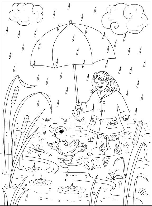 Coloring Pages Of Rainy Days For Kids | Summer coloring ...