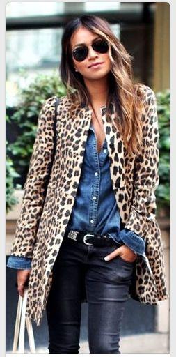 Bold And Beautiful  Striking leopard print coat
