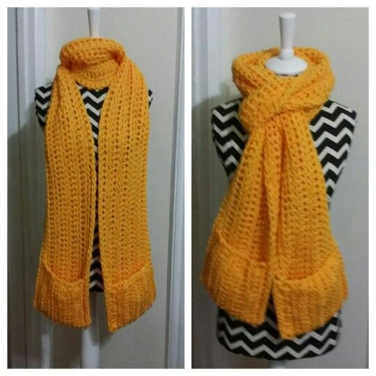 Crochet Scarf With Pockets Crochet Clothes Crochet