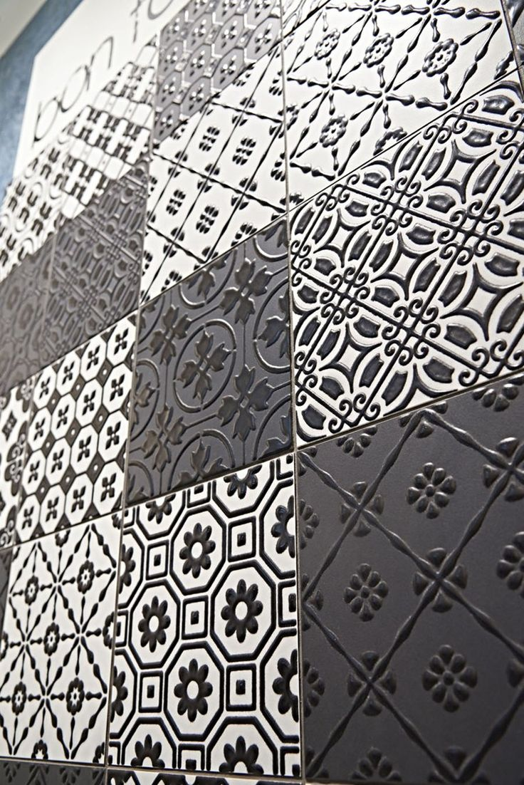 Porcelain stoneware wall/floor #tiles BON TON BLACK by Unica by Target studio @unicabytarget