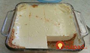 Dezert ze sušenek, jogurtu a kondenzovaného mléka v MW