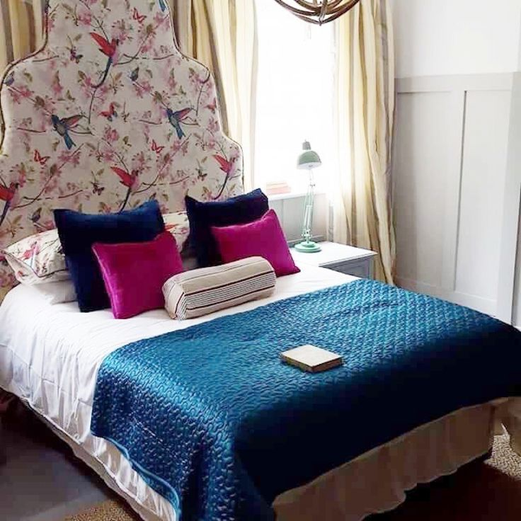 Chintz Headboard Bedroom By Oliver Thomas From The Great Interior Design Challenge As Seen On Room