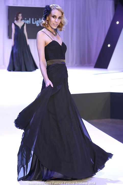 There was no shortage of formal glamour on the MBFF runway - this one was from Daniel Lightfoot.
