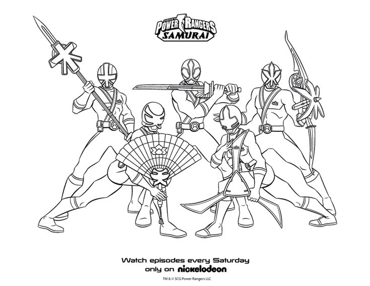 Power Ranger Coloring Pages
