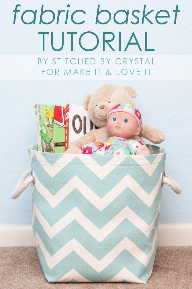 Fabric Storage Basket with Handles Tutorial (makeit-loveit.com)
