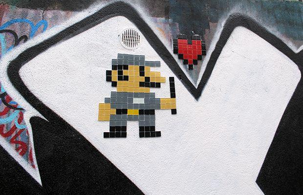 Intervenção urbana: Pixel Art - 8-bitch Project
