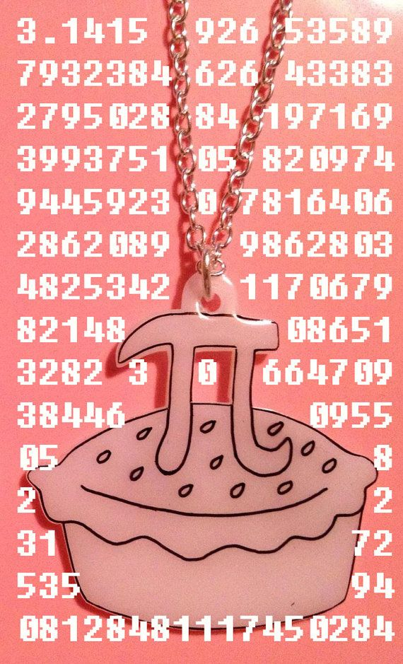 Pi Day - Pi Pie Necklace - geek chic - geekery - maths £10