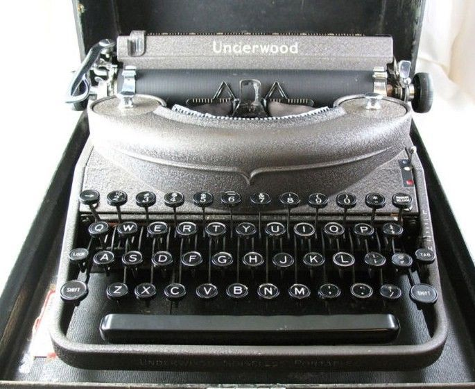 dating your underwood typewriter Olivetti underwood studio 44 (1965) this is not your standard office typewriter i am unable to research serial number to obtain the date any ideas reply.