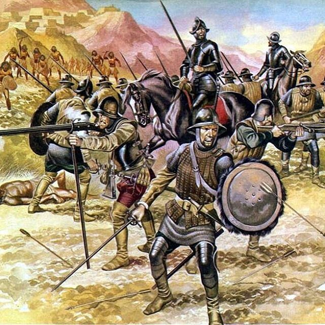 The battle of Otumba after la noche triste, the escapenof Cortés from Tenochtitlán. The battle of Otumba was fought 7 of july 1520 #history #archeology #mexicocity #mexico_maravilloso #historia
