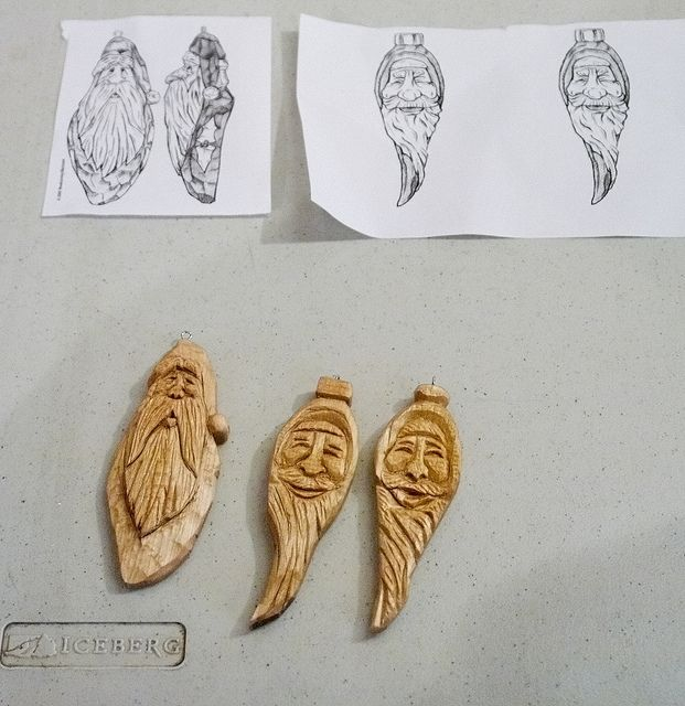 Wood christmas ornaments ornament carving carve