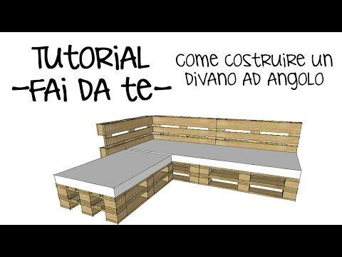 (2) Tutorial divano pallet fai da te - Come arreda casa e giardino riciclando vecchi bancali - YouTube