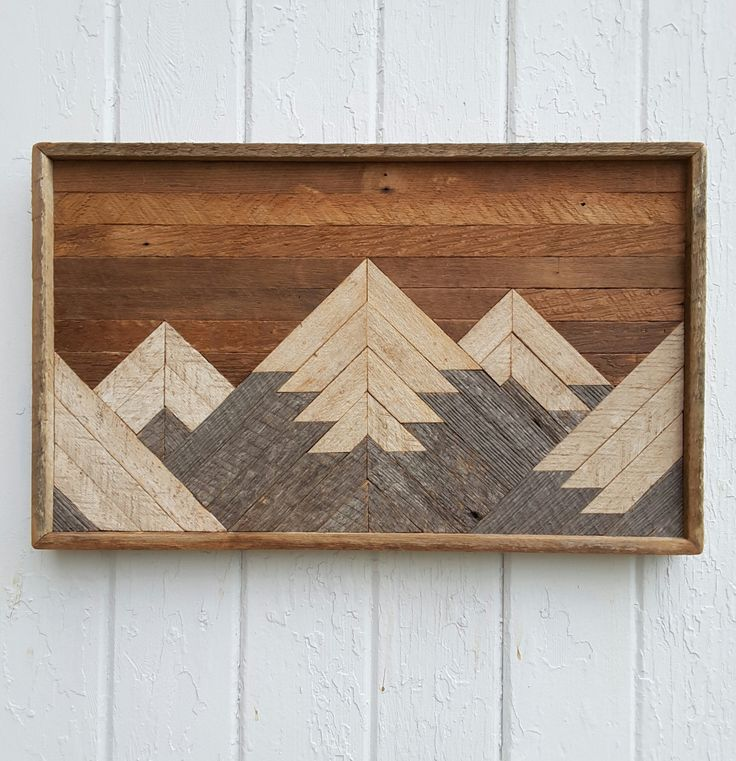 past reclaimed wood wall art small mountain range lath on wall art id=46854