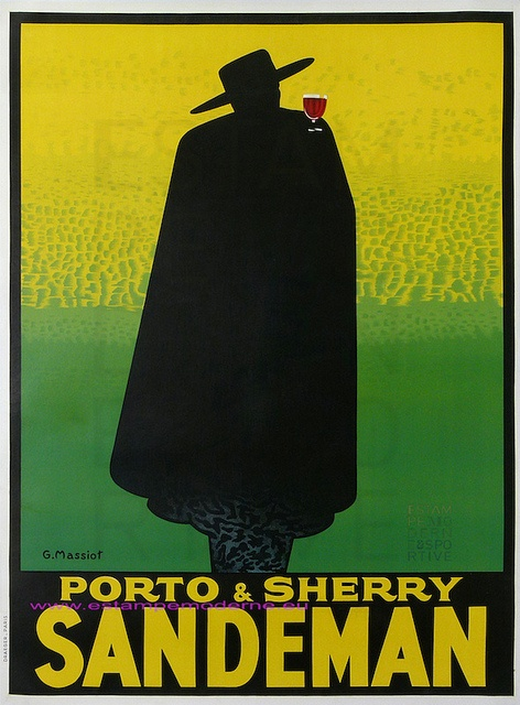 """Sandeman Porto"" poster by Massiot (1933). Vintage poster of wine"