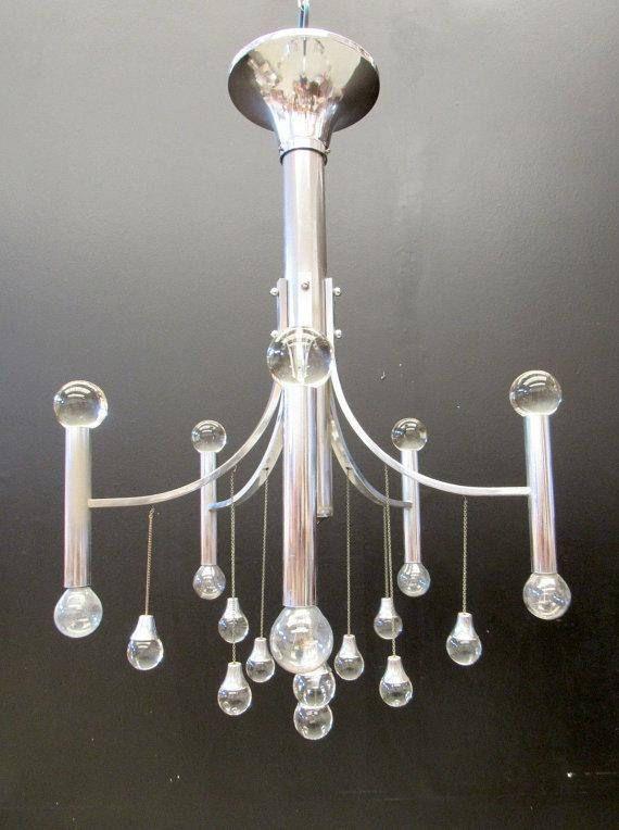 Sciolari Chandelier, Five Lights, 20th Century