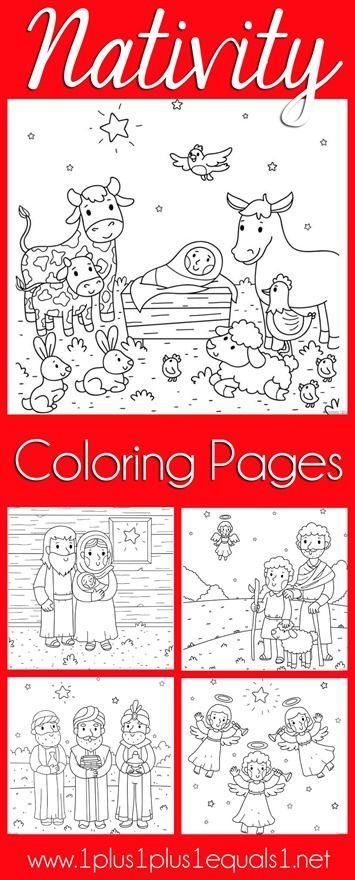 Christmas Nativity Coloring Pages {free}