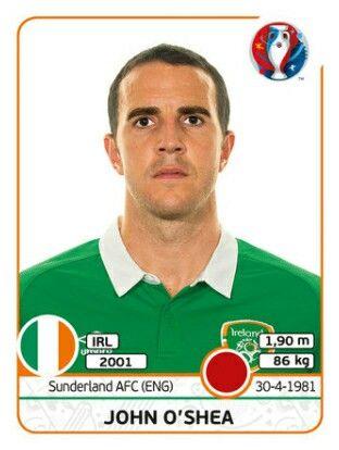 John O'shea - IRLANDA - EURO 2016