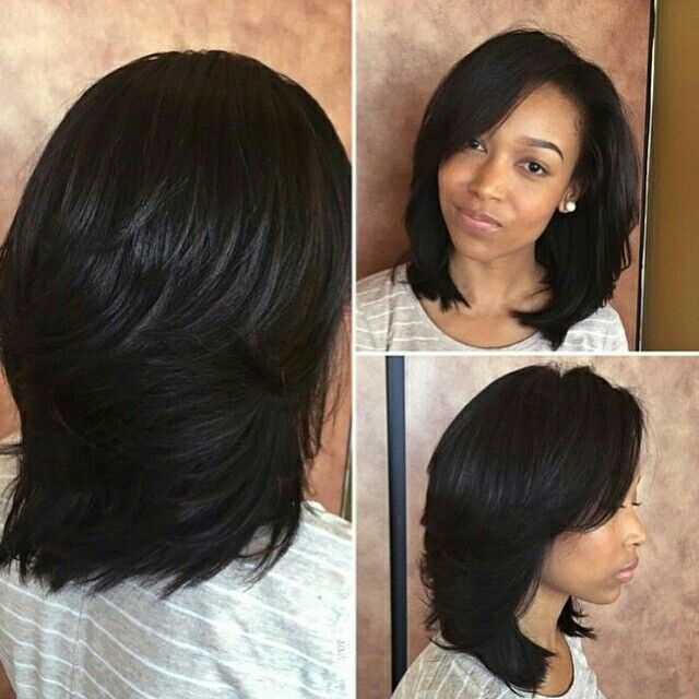 Hairstyles For Black Permed Hair Medium Length : 310 best relaxed shoulder length hair ideas images on pinterest