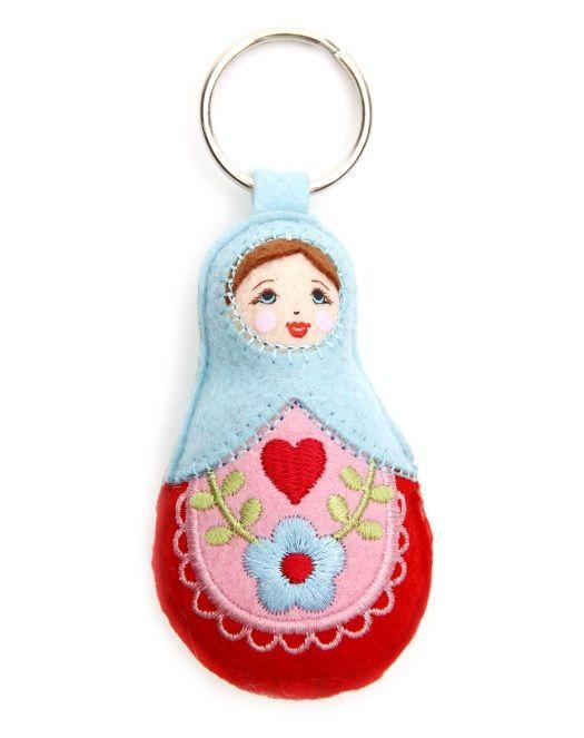 Everyone loves the sweet #Babushka #Doll - use as a #keyring or attach to your #bag for a touch of #Colour. #Seasons #Bazaar #Australia #Sydney #Melbourne #Brisbane #Hobart #FUN #TopShelfFUN #ring #key #handmade