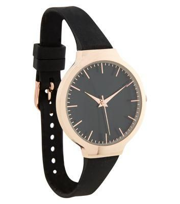 New Look Black Oversized Silicone Strap Oversized Watch #accessories #covetme
