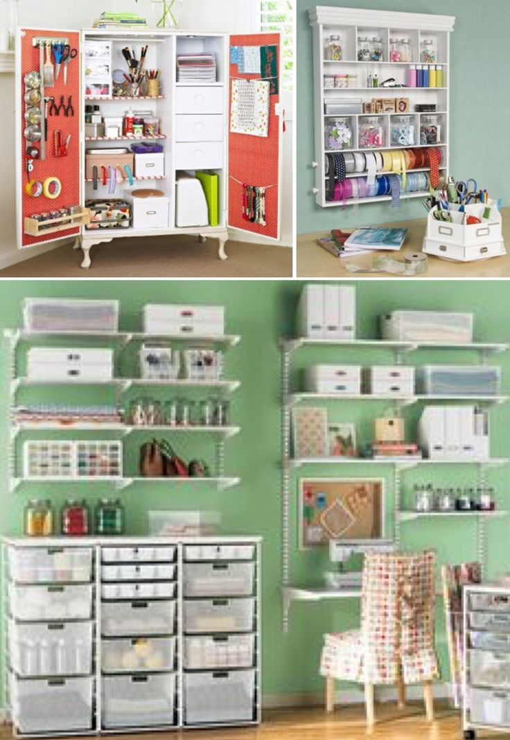 'Craft Room Storage Ideas...!' (via eHow)