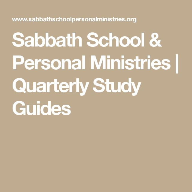Sabbath School & Personal Ministries | Quarterly Study Guides