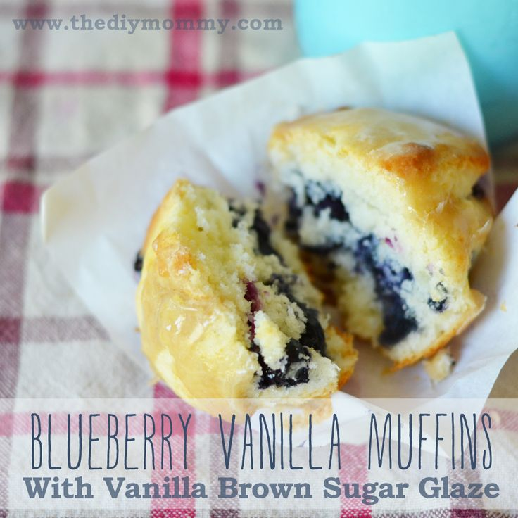 Muffins with Vanilla Brown Sugar Glaze - The DIY Mommy | breakfast ...