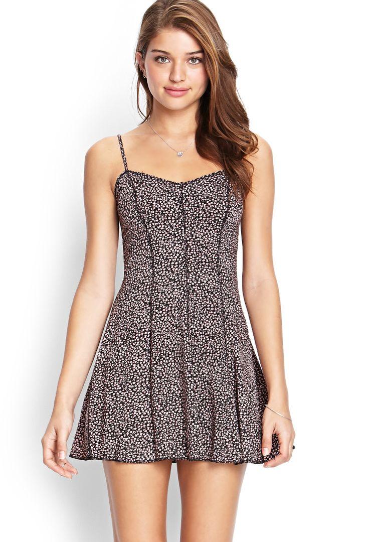 Floral Paneled Cami Dress | FOREVER21 #SummerForever