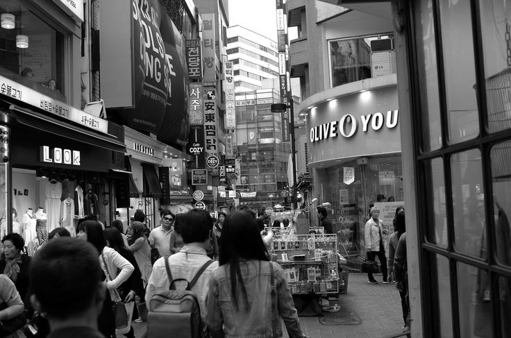 Myeong-dong,Seoul's main shopping districts