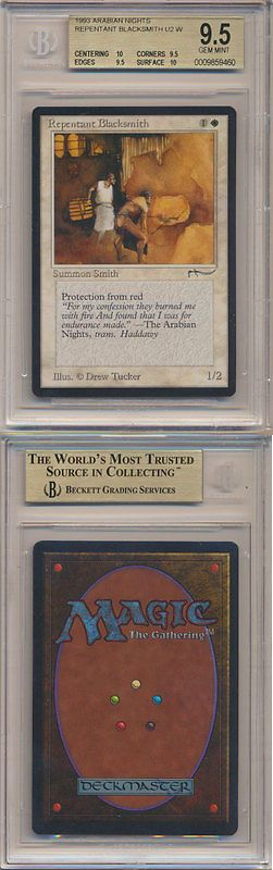 MTG Individual Cards 38292: Mtg Magic Gathering Bgs 9.5 Quads++ Arabian Nights Repentant Blacksmith Gem Mint -> BUY IT NOW ONLY: $249.99 on eBay!