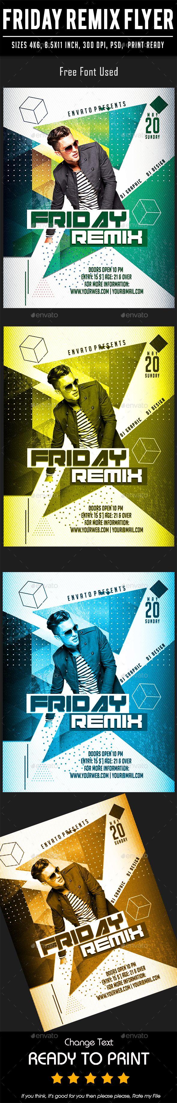 Friday Remix Flyer Template PSD
