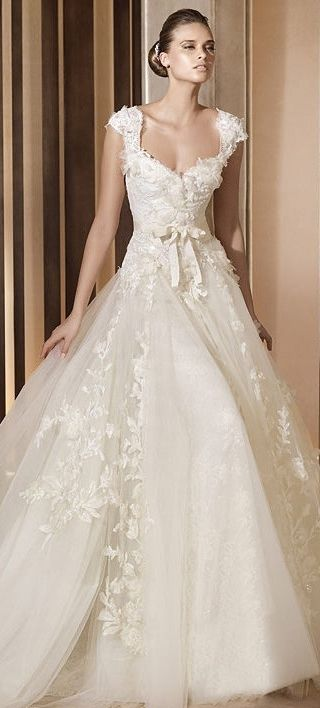 Elie by Elie Saab Bridal! not a fan of puffy skirts but love this dress and the vintage look!