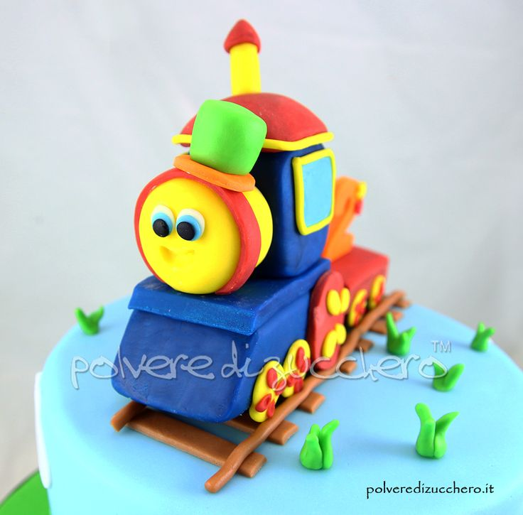 torta decorata di Bob il trenino per un bimbo  Bob train cake for a boy